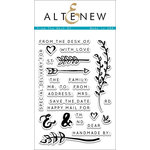 Altenew - Clear Acrylic Stamps - From The Desk Of