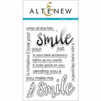 Altenew - Clear Photopolymer Stamps - Halftone Smile