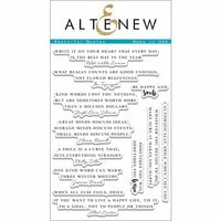 Altenew - Clear Photopolymer Stamps - Beautiful Quotes