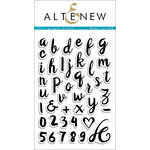 Altenew - Clear Acrylic Stamps - Calligraphy Alpha