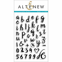 Altenew - Clear Photopolymer Stamps - Calligraphy Alpha
