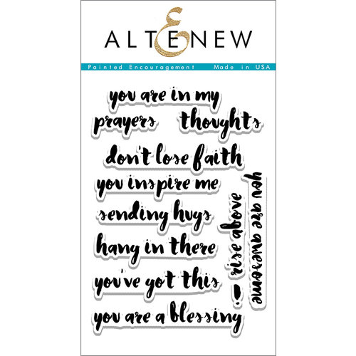 Altenew - Clear Acrylic Stamps - Painted Encouragement