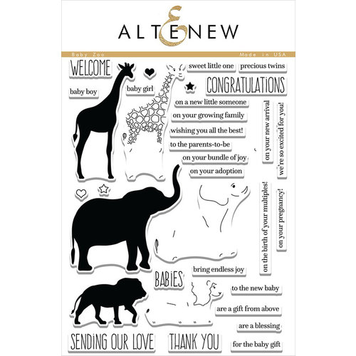Altenew - Clear Acrylic Stamps - Baby Zoo