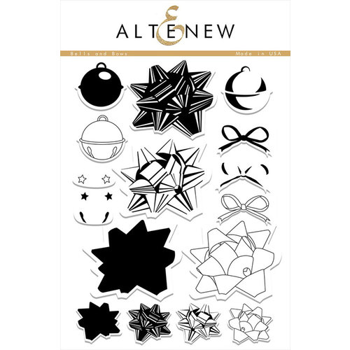 Altenew - Clear Photopolymer Stamps - Bells and Bows