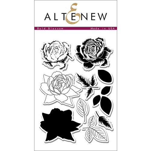 Altenew - Clear Photopolymer Stamps - Bold Blossom