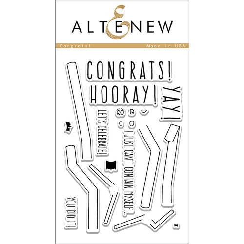 Altenew - Clear Photopolymer Stamps - Congrats