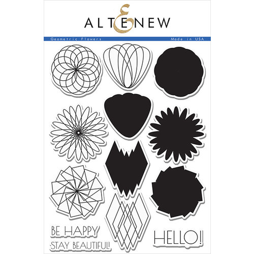Altenew - Clear Photopolymer Stamps - Geometric Flowers