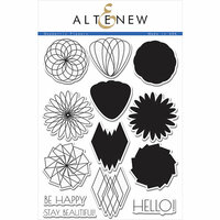 Altenew - Clear Photopolymer Stamps - Geometric Flowers
