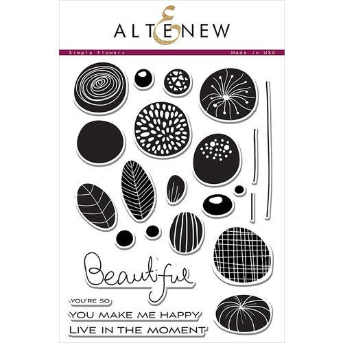 Altenew - Clear Photopolymer Stamps - Simple Flowers
