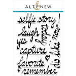 Altenew - Clear Photopolymer Stamps - Super Script Scrapbook