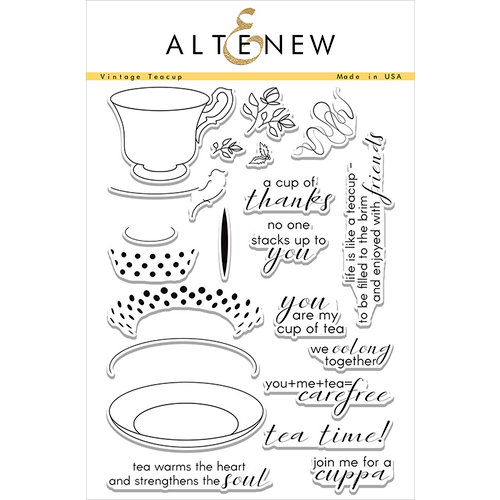 Altenew - Clear Photopolymer Stamps - Vintage Teacup