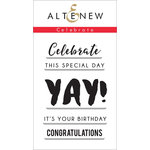 Altenew - Clear Acrylic Stamps - Celebrate