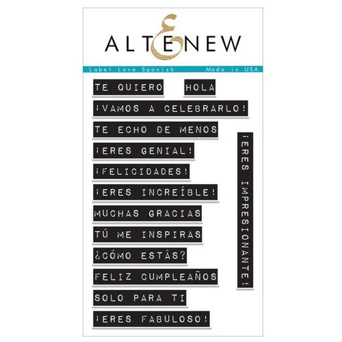 Altenew - Clear Photopolymer Stamps - Label Love Spanish
