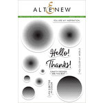 Altenew - Clear Acrylic Stamps - Halftone Circles