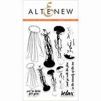 Altenew - Clear Photopolymer Stamps - Painted Jellyfish