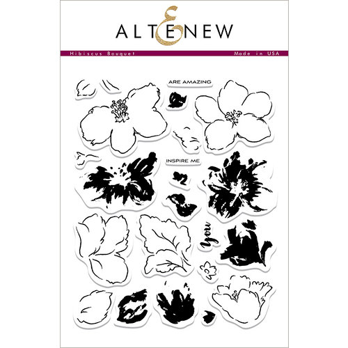 Altenew - Clear Photopolymer Stamps - Hibiscus Bouquet