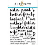 Altenew - Clear Acrylic Stamps - Family Matters