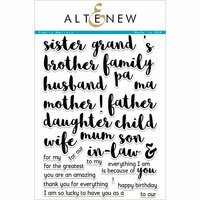 Altenew - Clear Photopolymer Stamps - Family Matters