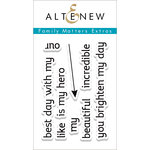Altenew - Clear Acrylic Stamps - Family Matters Extras
