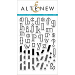 Altenew - Clear Acrylic Stamps - Filled Alpha