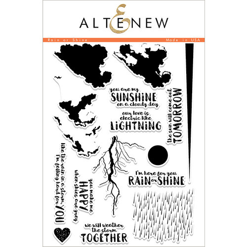 Altenew - Clear Photopolymer Stamps - Rain or Shine