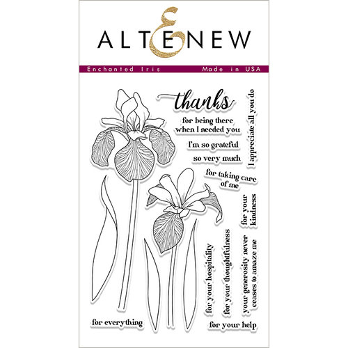 Altenew - Clear Acrylic Stamps - Enchanted Iris