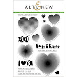 Altenew - Clear Acrylic Stamps - Halftone Hearts