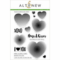 Altenew - Clear Photopolymer Stamps - Halftone Hearts
