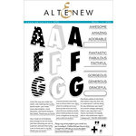 Altenew - Clear Acrylic Stamps - Layered Letters AFG