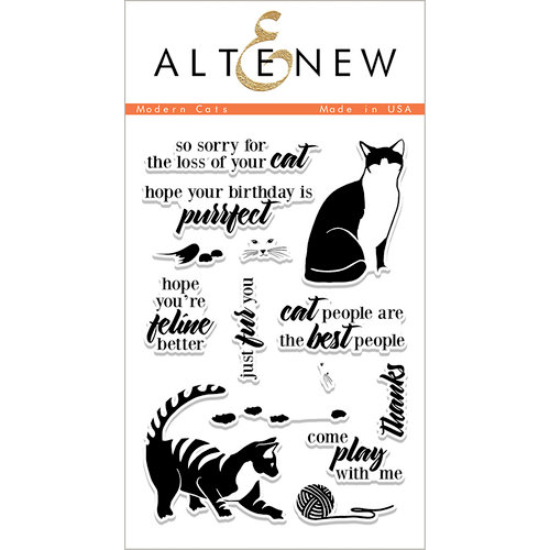 Altenew - Clear Photopolymer Stamps - Modern Cats