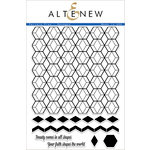 Altenew - Clear Acrylic Stamps - Pattern Play - Hexagon