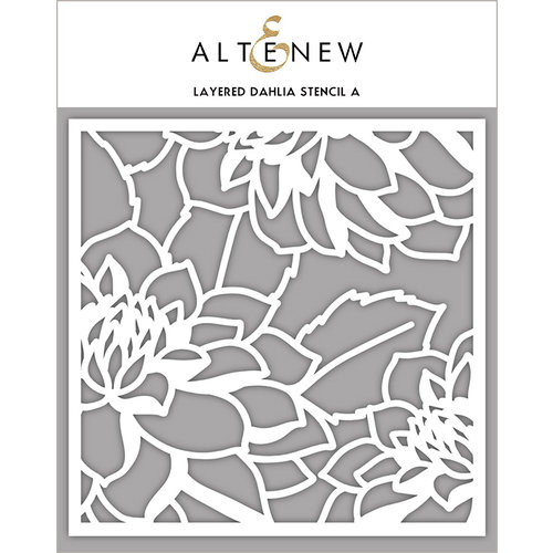 Altenew - Stencil - Layered Dahlia A