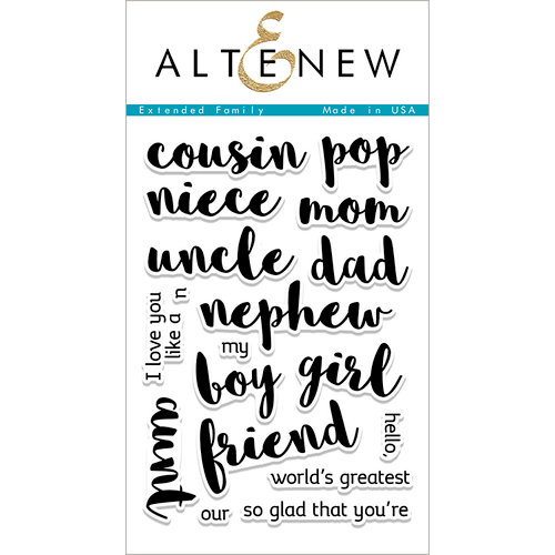Altenew - Clear Photopolymer Stamps - Extended Family