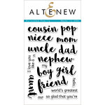 Altenew - Clear Acrylic Stamps - Extended Family