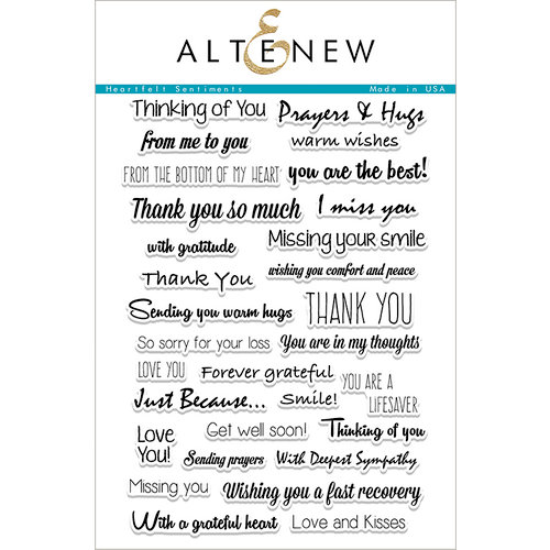 Altenew - Clear Photopolymer Stamps - Heartfelt Sentiments