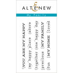 Altenew - Clear Acrylic Stamps - My Family