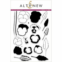 Altenew - Clear Photopolymer Stamps - Pretty Pansies