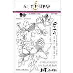 Altenew - Clear Acrylic Stamps - Sketchy Floral