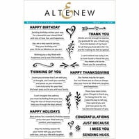 Altenew - Clear Photopolymer Stamps - Beautiful Inside