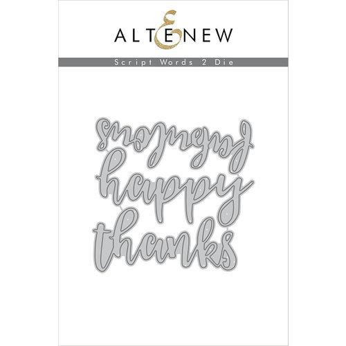 Altenew - Dies - Script Words 2
