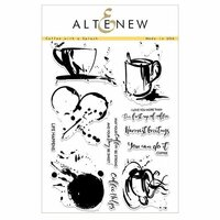 Altenew - Clear Photopolymer Stamps - Coffee with a Splash