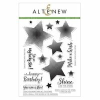 Altenew - Clear Photopolymer Stamps - Halftone Stars