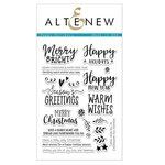 Altenew - Christmas - Clear Acrylic Stamps - Happy Holidays