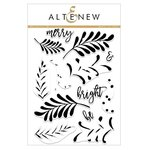 Altenew - Christmas - Clear Acrylic Stamps - Majestic Mistletoe