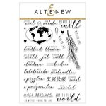 Altenew - Christmas - Clear Acrylic Stamps - Peace on Earth