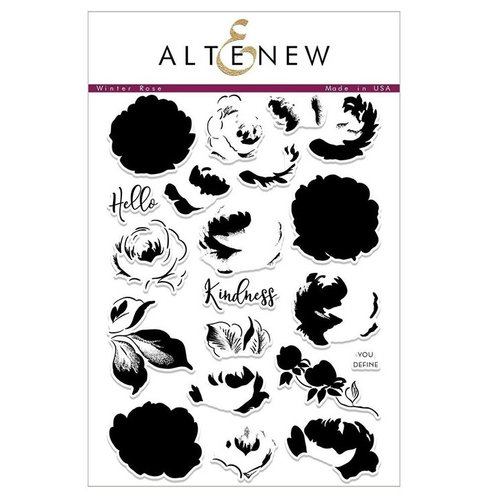 Altenew - Clear Photopolymer Stamps - Winter Rose