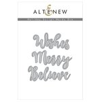 Altenew - Christmas - Dies - Holiday Script Words