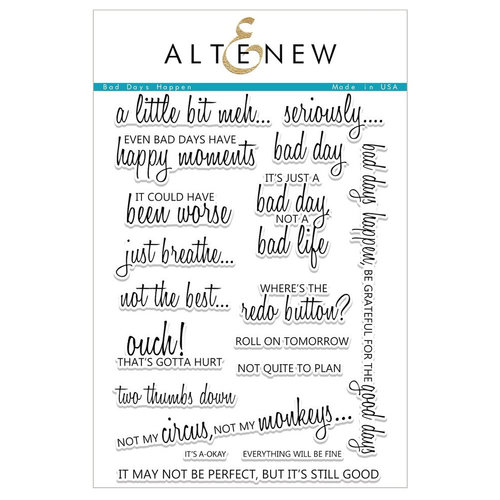 Altenew - Clear Photopolymer Stamps - Bad Days Happen