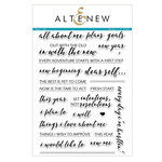 Altenew - Clear Acrylic Stamps - New Me