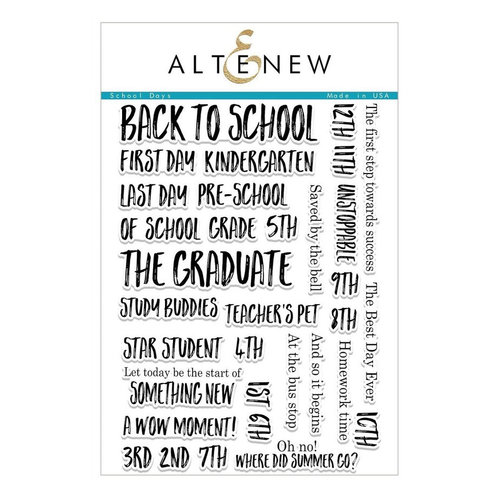 Altenew - Clear Photopolymer Stamps - School Days